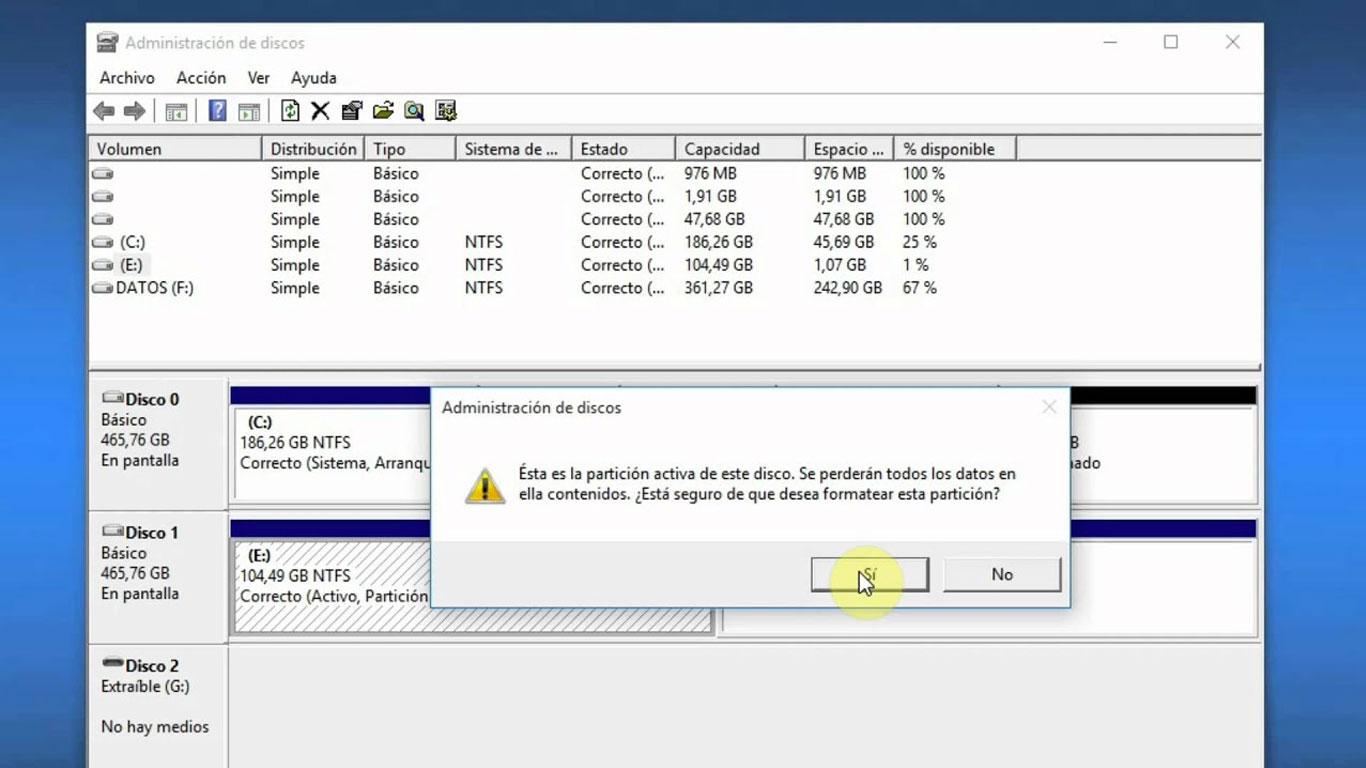 Paso 4 Formatear SSD